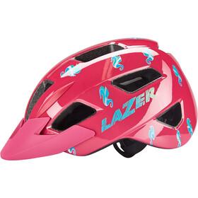 Lazer Lil Gekko Helm met Muskietennet Kinderen, roze/bont